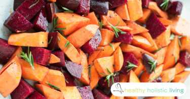 candied sweet potatoes and beets,