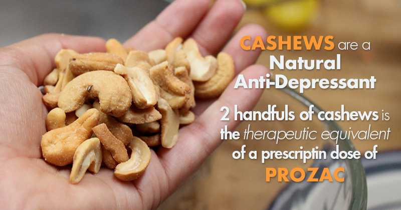 Cashew Nutrition: Eating 2 Handfuls Daily Could Be The Most Effective Natural Treatment For Depression