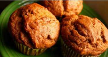 Anti-Inflammatory Coconut And Sweet Potato Muffins With Ginger, Cinnamon And Maple Syrup