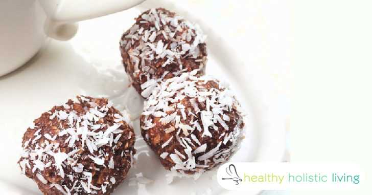 These coconut oil and chocolate balls are 100% dairy free and take minutes to make
